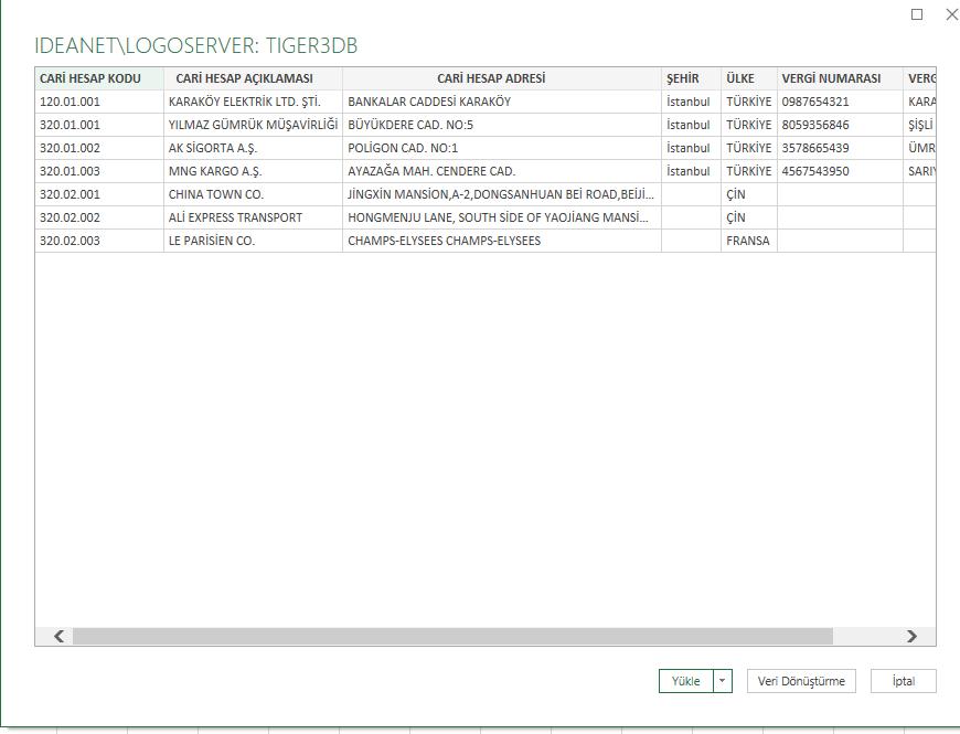 Excel - Sql Veri Ekranı (Excel, Logo, SQL Bağlantısı)